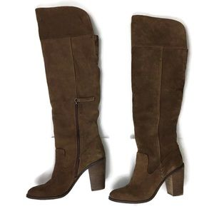 Dolce Vita Orien Nubuck Leather Over Knee Boot 8.5